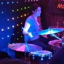Jody on drums - Open mic with Lonesome Moon