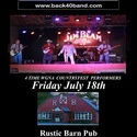 Back 40 Band flyer - July 18th!